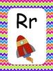 Colorful Chevron Alphabet Cards w/ Pictures