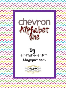 Colorful Chevron ABC line