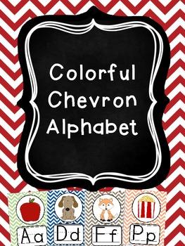 Colorful Chevron Alphabet
