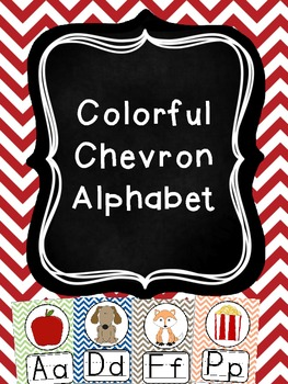 Colorful Chevron Alphabet