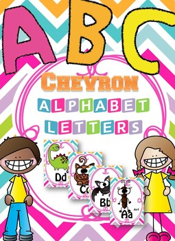 Colorful Chevron Alphabet Cards { ABC Wall }