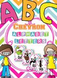 Colorful Chevron Alphabet Cards { ABC Wall }