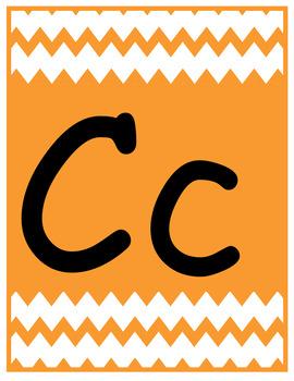 Colorful Chevron Alphabet Letter Poster Set