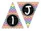 Alphabet Pennant Colorful Chevron