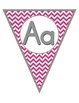 Colorful Chevron Alphabet Pennants