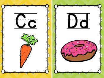 Colorful Chevron Alphabet Posters