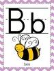 Chevron Alphabet and Number Line Classroom Decor