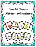 Colorful Chevron Alphabet and numbers