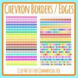 Colorful Chevron / Arrows  Borders / Edges / Dividers Decorative Clip Art Set