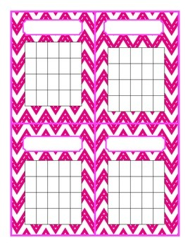 Colorful Chevron Behavior Charts