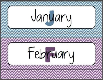 Colorful Chevron Calendar