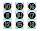 Colorful Chevron Calendar Numbers