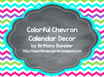Colorful Chevron Calendar Wall Set