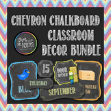 Classroom Theme Bundle: Colorful Chevron Chalkboard (Classroom Decor)