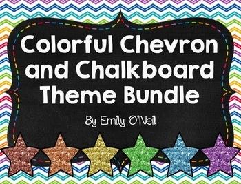 Colorful Chevron & Chalkboard Theme Bundle