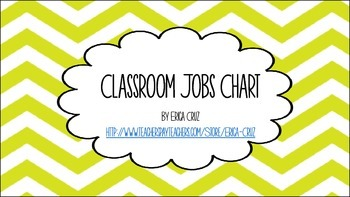 Colorful Chevron Classroom Jobs Chart