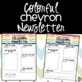 Colorful Chevron Classroom Newsletter {EDITABLE}
