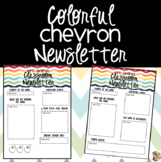 Colorful Chevron Classroom Newsletter {EDITABLE}
