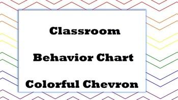 Colorful Chevron Clip Chart