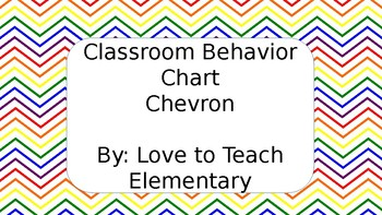 Colorful Chevron Clip Chart