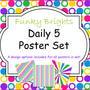 Funky Brights Daily 5 Poster Set