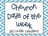 Colorful Chevron Days of the Week