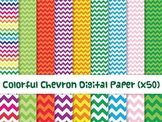 Colorful Chevron Digital Paper
