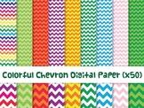 Colorful Chevron Digital Paper