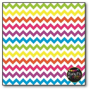Colorful Chevron Digital Papers COMBO PACK {Commercial Use Digital Graphics}