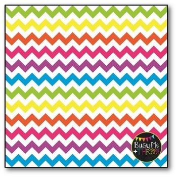 Chevron Digital Papers BUNDLE, Rainbow {Commercial Use Digital Graphics}