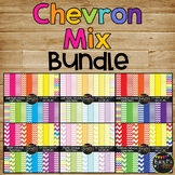 Chevron Digital Papers BUNDLE, Rainbow {Commercial Use Dig