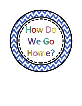 Colorful Chevron 'How Do We Go Home?' Transportation Circle Posters