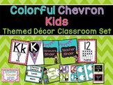 Chevron Classroom Decor: Alphabet/Number Line, Labels, Bin