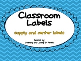 Colorful Chevron Labels
