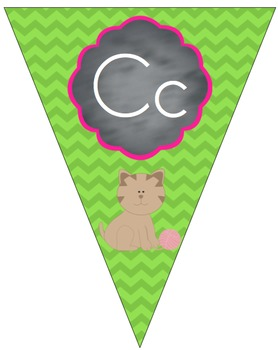 Colorful Chevron Letter Line Correlated to Saxon Phonics (Print Version)