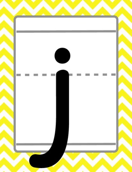 Colorful Chevron Lowercase Alphabet
