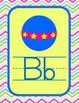 Colorful Chevron Manuscript Alphabet Line
