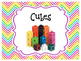Colorful Chevron Math Manipulative Labels
