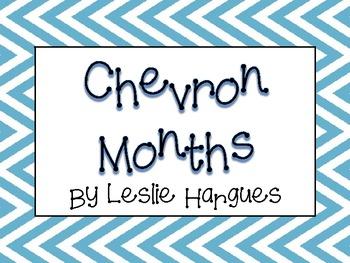 Colorful Chevron Months