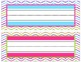 Colorful Chevron Name Plates- with and without lines