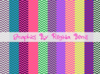 Colorful Chevron Papers