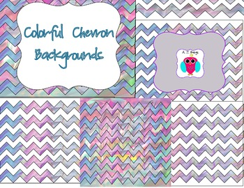 Colorful Chevron Papers and Background