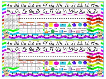 Colorful Chevron Plates/Desk Plates