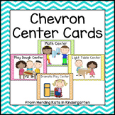 Colorful Chevron Pocket Chart  Center Cards