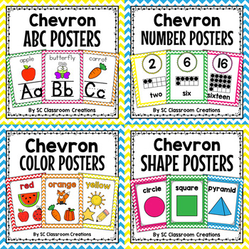 Colorful Chevron Poster Bundle