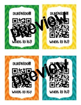 Colorful Chevron QR Code Reward Coupons (Low or NO cost rewards)
