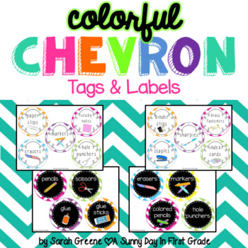 Colorful {Chevron} Tags & Labels!