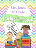 Colorful Chevron Teacher Plan Book (Editable)