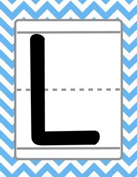 Colorful Chevron Uppercase Alphabet