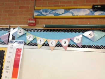 Colorful Chevron Welcome Banner